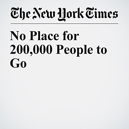No Place for 200,000 People to Go copertina