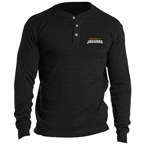 Dunbrooke Apparel NFL Jacksonville Jaguars Mens Thermal HenleyThermal Henley, Team, 4X