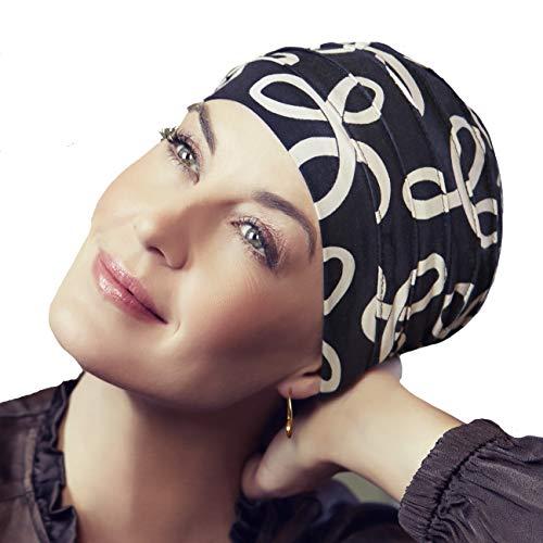 Christine Headwear Gorro oncológico Yoga Estampado con bambú hipoalergenico (Estampado Arcos clásicos)