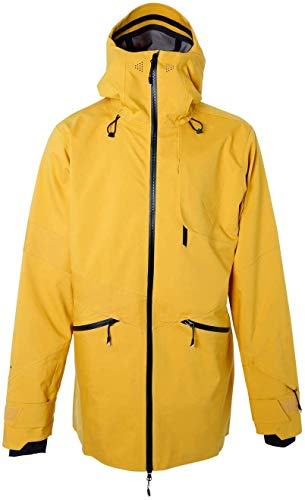 Brunotti Skijacke Snowboardjacke Owl Mens Snowjacket schwarz & gelb Winddicht elastisch (159 Indian Gold, L)