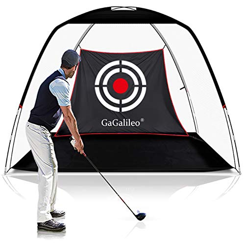 Gagalileo Golf Practice Net for Backyard Golf Net Golf Hitting Nets Driving Net Range Golfing Net Backyard Golf Training Aids 10'X7'X6' Home Driving Range Golf with Target and Carry Bag(Pro White)