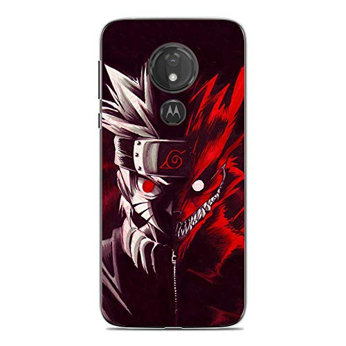 LUOKAOO Case for Moto G7 Play, Naruto-Uzumaki Nine-Tails 8 Ultra TPU Transparent Silicone Rubber Gel Edge Cover Coque Silikon