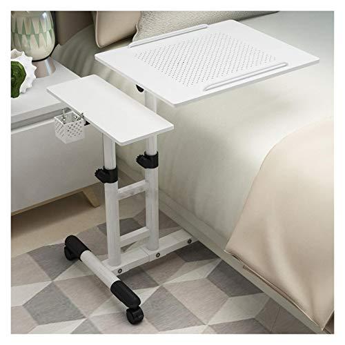 Laptop Desk Mobile Desk Cart Height Adjustable Laptop Stand Cart Laptop Table Rolling Cart Home Office Computer Cart Desk Portable Side Table (Color : 09)