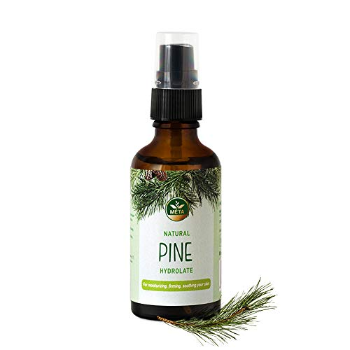 Véritable hydrolat biologique au pin - toner facial bio - eau naturelle pour la peau et les cheveux - distillat pur - hydrolats sans alcool - cosmétiques naturels végétaliens