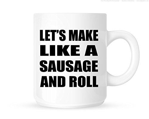 Laten we als een worst en rol maken - grappige nieuwigheid thee/koffiemok/beker - geweldig cadeau-idee