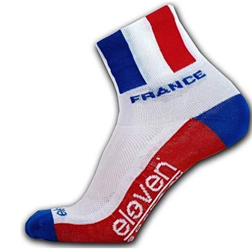 Socken mit Fahnen   funktionelle Sportsocken für Radfahren, Laufen, Indoor-Sport und Outdoor-Sport   Eleven Howa (Frankreich, M (EU 39-41))