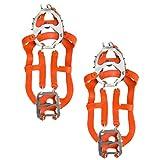 Holibanna 1 par de Tacos de Tracción para Caminar Antideslizantes sobre Picos de Zapatos Crampones Agarre de Hielo Pinzas de Nieve Cubiertas de Calzado de Acero Inoxidable para Caminar