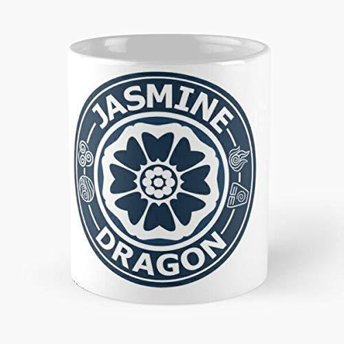NA Taza Dragon Uncle Iroh Tea Avatar Jasmine Shop I se sostiene a Mano, 11 oz, Hecha de mármol Blanco, diseño de Moda con Estampado de cerámica - Fsgtokuda