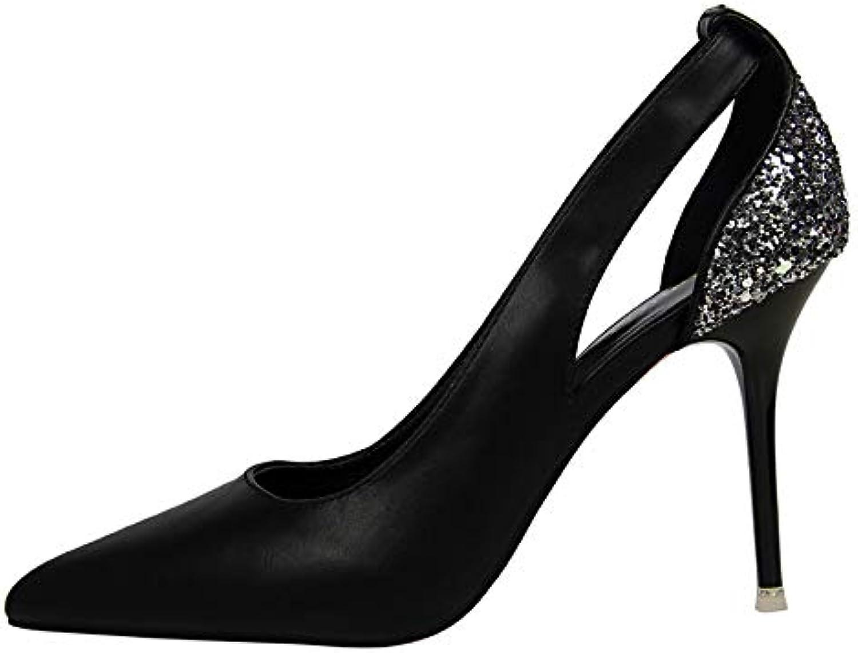 FLYRCX Frühling und und und Herbst europäischen Spitzen Stiletto Schuhe flachen Mund Mode sexy High Heels Damen Arbeiten Schuhe  c03ca3