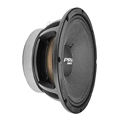 PRV AUDIO 8MR600X-4 8 Inch Midrange Speaker, 4 Ohms, 600 Watts Continuous Program Power, 300 Watts RMS Power, 98 dB, X-treme Mid Range Loudspeaker for Pro Car Audio (Single)