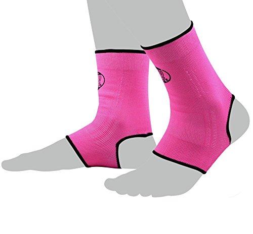 BAY® 2X elastische Fußbandagen, Fußgelenkbandagen, pink/rosa, Größe S