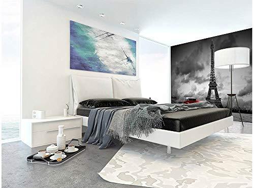 Vlies Fotobehang RETRO AUTO IN PARIJS | Niet-Geweven Foto Mural | Wall Mural - Behang - Reusachtige Wandposter | Premium Kwaliteit - Gemaakt in de EU | 375 cm x 250 cm