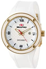 Quartz movement Case diameter: 46 mm Stainless steel case Scratch resistant mineral Water-resistant to 100 M (330 feet)