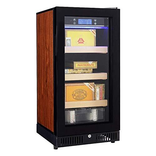 GUONING-L シガーハーモー恒温恒湿シガダーキャビネット加湿器家庭用冷蔵庫冷凍庫垂直ロックシガーサーモスタット(カラー:レッド、サイズ:45×49×93cm) シガーホルダー