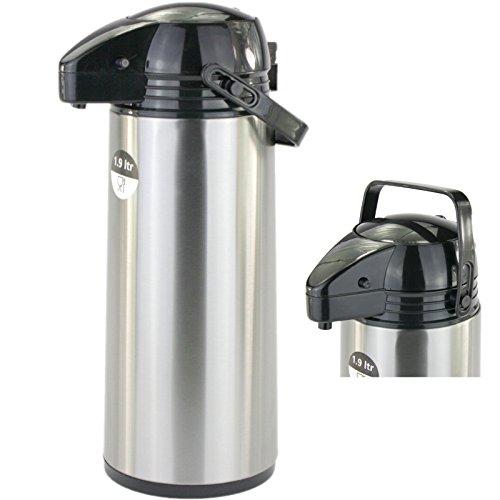 Lennox 1,9 Liter Airpot Pumpkanne Thermoskanne Coffee Time