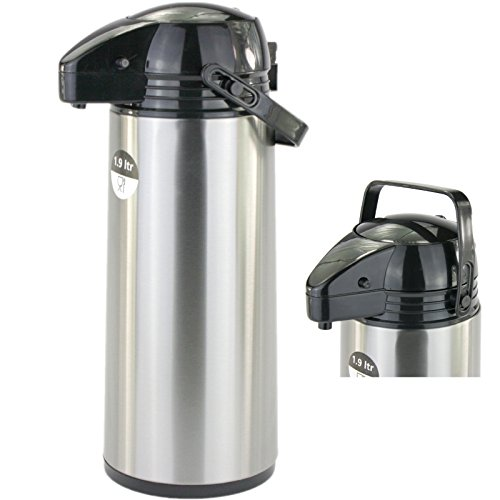 Lennox 1,9 Liter Airpot Pumpkanne Thermoskanne Coffee Time
