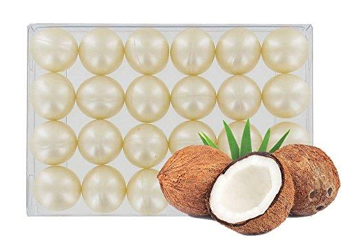 Caja 24 perlas aceite baño nacaradas - Coco blanco