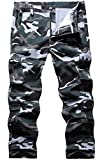 BOJIN Men's Cargo Pants Casual Military Army Camo Relaxed Fit...