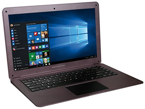 Mediacom SmartBook 14 Ultra Notebook, Display da 14  LCD, Memoria Interna da 32 GB Processore Intel Atom Z8300 [Italia]