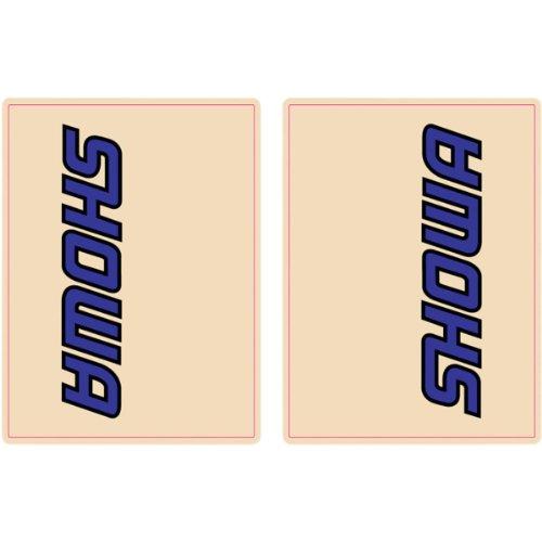 FLU Designs Inc. Upper Fork Showa Decal - Blue/Black 01011