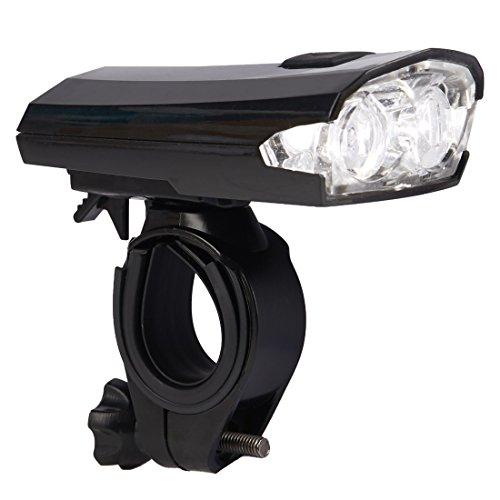 Ultrasport Faro de Bicicleta LED, batería Recargable de Ion Litio, fácil de conectar y desconectar