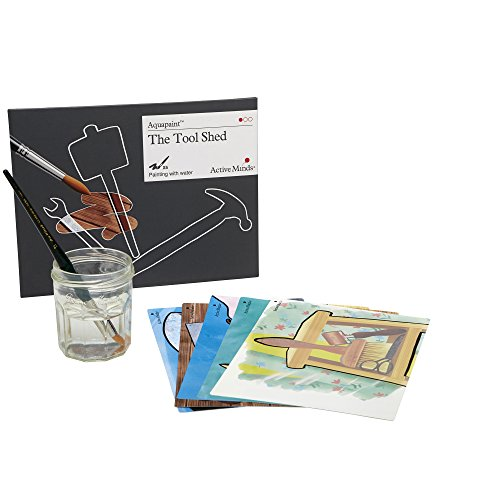 The Tool Shed Aquapaint - Reusable Water Painting by Active Minds | Specialist Alzheimer's/Dementia Art Activity w/Five Painting Designs