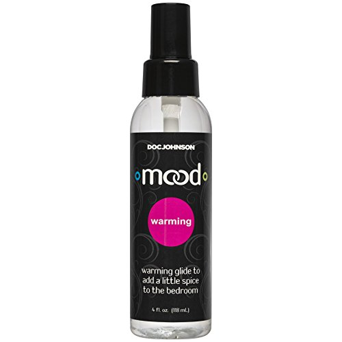 Doc Johnson Mood - Warming Glide - Gets Warmer with Motion - Compatible With All Condoms and Toys - Contains Glycerine - 4 fl oz (118 ml)