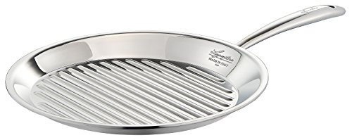 Lagostina Q5510474 Accademia Bistecchiera Stainless Steel Grill Pan Cookware, 11-Inch by Lagostina