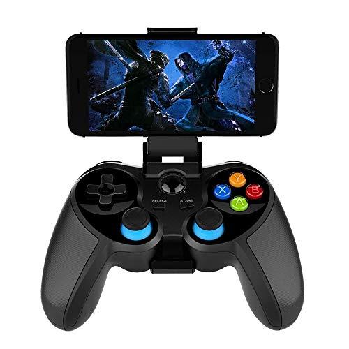 Aiyoudemutou Gamepad Gamepad inalámbrico Bluetooth 4.0 con Joystick, Controlador de Juegos móvil Controlador de Juegos Multimedia Compatible con iOS Android Controlador Gamepad