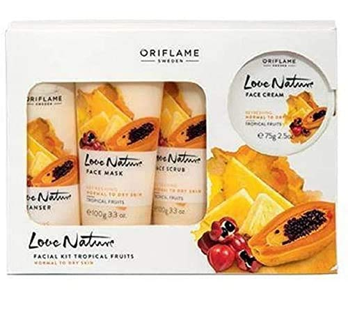Love nature Fruits Facial Kit (Cleanser, Scrub, Cream and Face Mask )