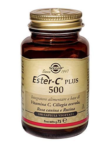 Solgar Ester-C Plus vitamine C 500 mg rozenbotten bioflavonoïden acerola-bessen - 100 tabletten
