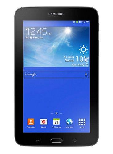 Samsung Galaxy Tab 3 lite T110 17,8 cm (7 Zoll) Tablet (Dual-Core, 1,2GHz, 1GB RAM, 8GB internet Speicher, 3 Megapixel Kamera, WiFi, Android 4.1) schwarz