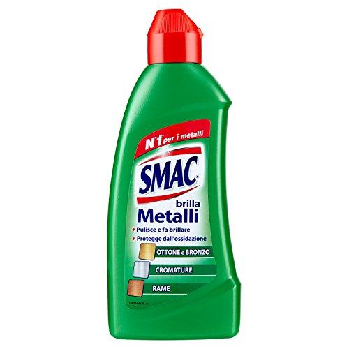 Smac - Brilla Metalli, Detergente Crema per Bronzo, Ottone, Rame e Cromature, Lucida e Protegge dall'Ossidazione, 250 ml