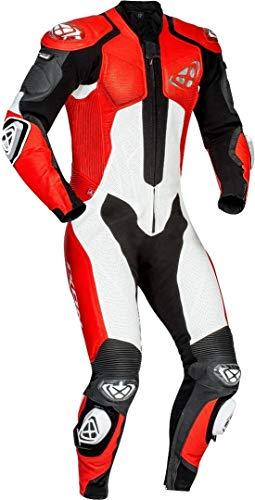 Ixon Vendetta Evo 1-Teiler Motorrad Lederkombi Schwarz/Rot/Weiß XL