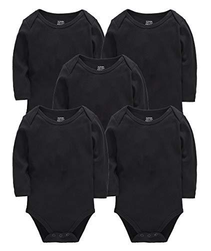 kavkas - Pelele - para bebé niña Negro Negro (9-12 Meses