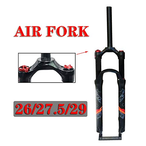 Cycling Suspension Fork 26 275 29 Inch Mountain Bike Air Front Fork Bicycle Shoulder Control Aluminum Alloy MTB Air Fork Suspension Travel 120 Mm Bicycle Fork275