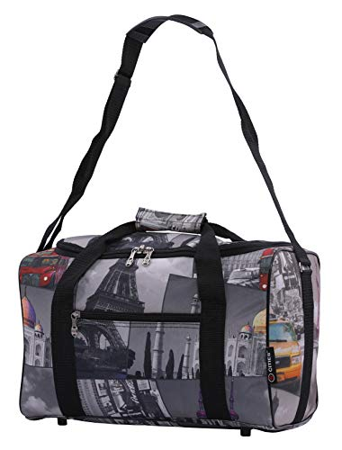 5 Cities 40x20x25 Ryanair Maximum Sized 2020 Under Seat Cabin Holdall Travel Flight Bag – Take The Max on Board! (Cities)