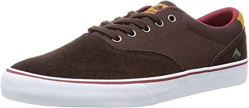 Emerica Provost Slim Vulc Skate Schuh, Braun (braun/weiß), 41.5 EU