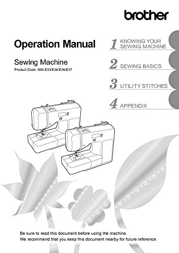 Brother CE1125PRW Sewing Machine Owners Instruction Manual [Plastic Comb] There and Back