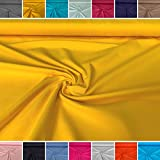 molo Stoffe Jersey Uni gelb - Baumwolljersey - Ökotex - Ab