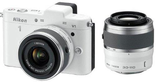 Nikon 1 V1 - Cámara Evil de 10 MP (Pantalla de 3', Zoom óptico 14x, Sensor CMOS 1',...