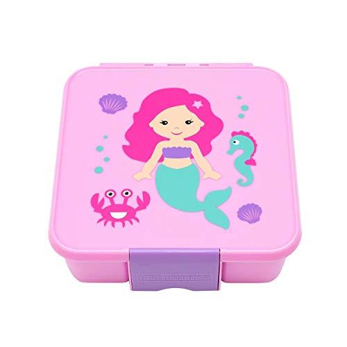 Little Lunch Box Co., Brotdose für Kinder mit Unterteilungen | Bento Box (Bento 3 - Meerjungfrau)