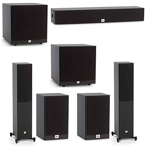 Learn More About JBL 5.2 System with 2 JBL Stage A170 Floorstanding Speakers, 1 JBL Stage A135C Center Speaker, 2 JBL Stage A120 Bookshelf Speakers, 2 JBL Stage A120P Subwoofers
