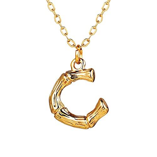 Bonitos collares minimalistas con letras iniciales para mujer, collar con colgante de letras A-Z Vintage, gargantillas de cadena dorada, joyería