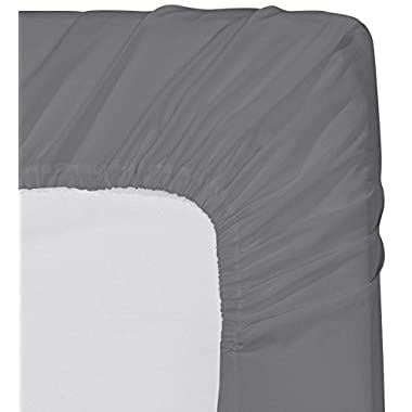 Utopia Bedding-Fitted Sheet (Queen - Grey) - Deep Pocket Brushed Microfiber, Breathable, Extra Soft and Comfortable - Wrinkle, Fade, Stain and Abrasion Resistant