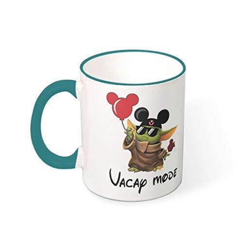 BBOOUAG Vacap Made Mug Cute Painting Vajilla Lavavajillas Taza de té regalo para Navidad con capacidad de 330 ml