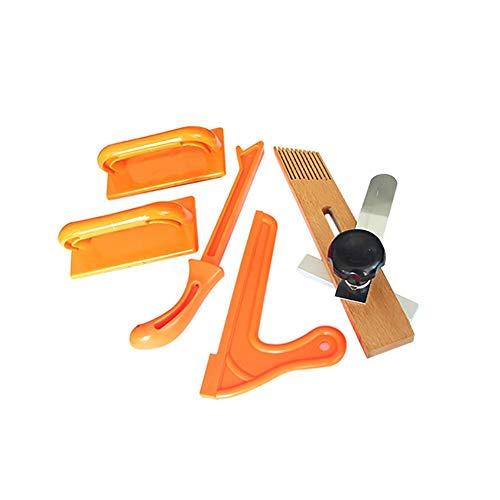 SH-Flying Sicherheits-Push-Stick-Set, 5-TLG. Sicherheits-Push-Stick-Set mit Push-Blöcken und einem Federbrett zur Verwendung mit Tischsäge, Frästisch und Jointer