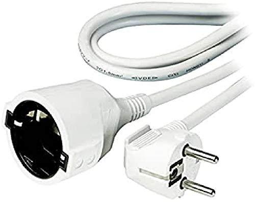 Vivanco SKV 3 W - Cable alargador (3 m, shucko), blanco