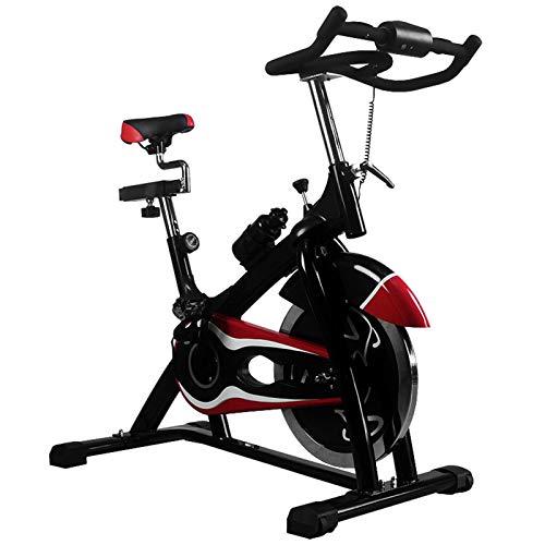 Pot Las Bicicletas de Ejercicio Vertical, los Hogares Silenciosa de Bicicletas de Gimnasio Comercial Profesional Equipo for Deportes (Color : Negro)