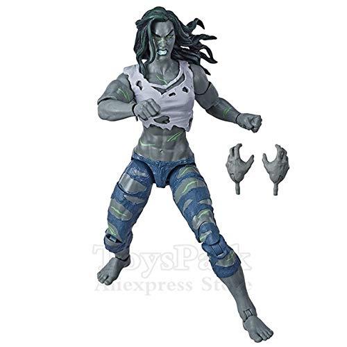 Jwyq Original ML Legends Fantastic 4 Human Torch Invisible Thing Doctor Doom Hulker Lady 6'Figura de accin Super Skrull BAF Wave ToysLady Hulk Loose